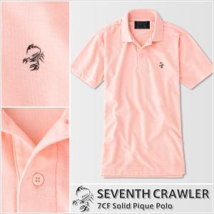 アメカジ/セブンスクローラー/メンズ ポロシャツ 半袖/正規品 ピンク