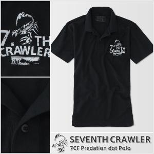 ポロシャツ メンズ 半袖 アメカジ ブランド セブンスクローラー 正規品 ブラック|vividstyle