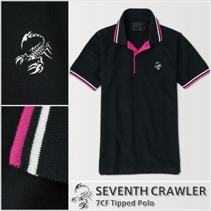 ポロシャツ メンズ 半袖 アメカジ ブランド セブンスクローラー 正規品 ブラック vividstyle