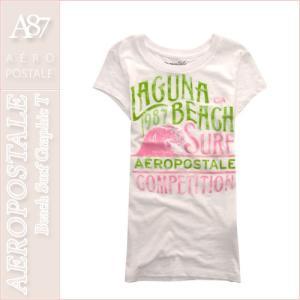エアロポステール/レディース Tシャツ 半袖/正規品 ホワイト|vividstyle