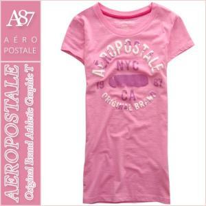 エアロポステール/レディース Tシャツ 半袖/正規品 ピンク|vividstyle
