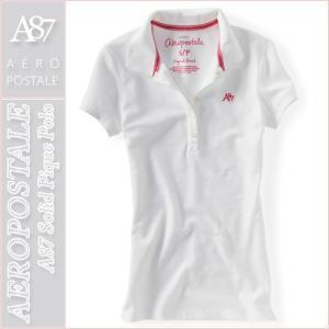 エアロポステール/レディース ポロシャツ 半袖/正規品 ホワイト|vividstyle
