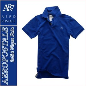エアロポステール/メンズ ポロシャツ 半袖/正規品 ブルー...