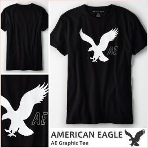 アメリカンイーグル/メンズ Tシャツ 半袖/正規品 ブラック