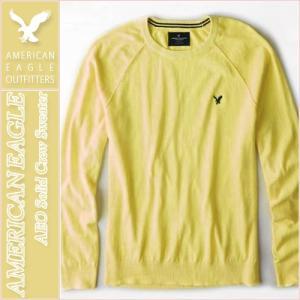 アメリカンイーグル/メンズ セーター/正規品 イエロー|vividstyle