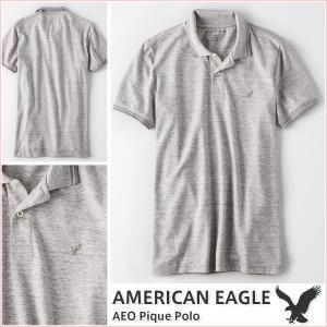 アメリカンイーグル/メンズ ポロシャツ 半袖/正規品 グレー vividstyle
