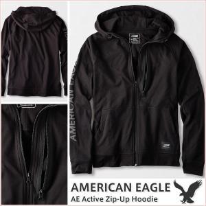 アメリカンイーグル/メンズ パーカー ジップアップパーカー/スポーツタイプ 正規品 ブラック|vividstyle