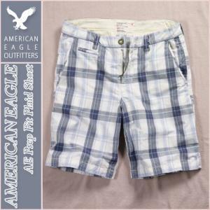 アメリカンイーグル/メンズ ハーフパンツ ショートパンツ/チェック柄 正規品 ブルー|vividstyle