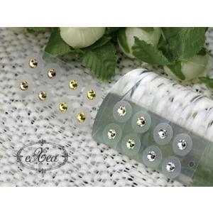 耳つぼジュエリー 痛くないフラットタイプ ゴールドグラデーション SS12 16個入 exj1612grd-gold 金属アレルギーフリー (メール便可)|vivim|02