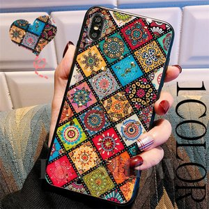 iphone6 7 8 plus アイフォン ケース i Phone  ボヘミアン 柄 民族柄 ケー...