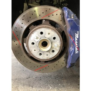 マセラティ グランカブリオ ブレーキローター持ち込み加工/塗装 ブレーキパッド前後セット|voing-sp