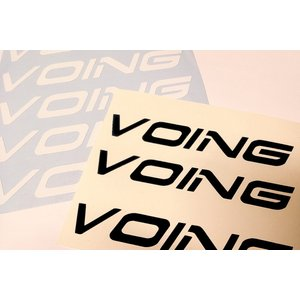 ◆ベルハットロゴ入れ〜VOING〜◆ ホワイト カスタムブレーキローター ステッカー|voing-sp