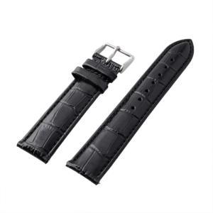 アレス 腕時計用ベルト メンズ 19mm 19mm ALLES パーツ クロコダイル型押し ブラック|vol8