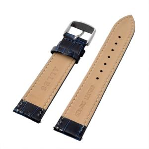 アレス 腕時計用ベルト メンズ 19mm 19mm ALLES パーツ クロコダイル型押し ネイビー|vol8|03