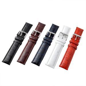 アレス 腕時計用ベルト メンズ 19mm 19mm ALLES パーツ クロコダイル型押し ネイビー|vol8|05