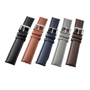 アレス 腕時計用ベルト メンズ 19mm 19mm ALLES パーツ クロコダイル型押し ネイビー|vol8|06