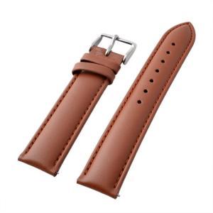 アレス 腕時計用ベルト メンズ 19mm 19mm ALLES パーツ レザー ブラウン|vol8