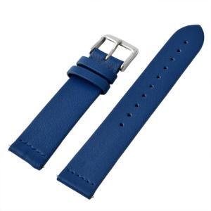 アレス 腕時計用ベルト メンズ 19mm 19mm ALLES パーツ レザー ブルー/シルバー|vol8