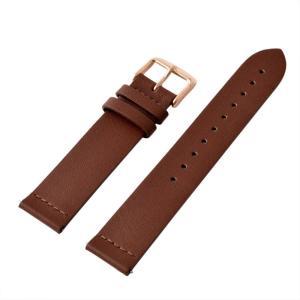 アレス 腕時計用ベルト メンズ 19mm 19mm ALLES パーツ ブラウン/ローズゴールド|vol8
