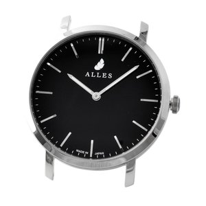 アレス 腕時計ヘッド/ベルト別売 メンズ 39mm 39mm ALLES パーツ ブラック/シルバー|vol8