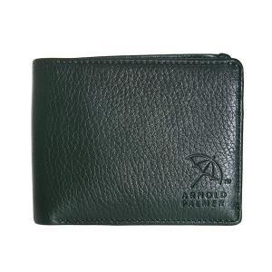 アーノルドパーマー 二つ折り財布 メンズ ARNOLD PALMER レザー グリーン|vol8