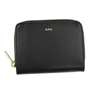 アーペーセー 二つ折り財布 レディース&メンズ APC レザー BK|vol8