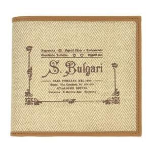 ブルガリ 二つ折り財布 メンズ COLLEZIONE1910 BVLGARI ベージュ vol8