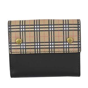 バーバリー 二つ折り財布 レディース&メンズ LS LUNA MIM BURBERRY レザー BK|vol8