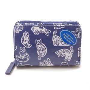 キャスキッドソン 二つ折り財布 ミニ財布 レディース CathKidston 猫柄 ネコ柄 ネイビー|vol8