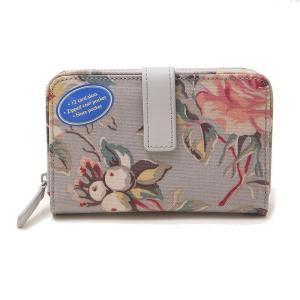 キャスキッドソン 二つ折り財布 ミニ財布 レディース CathKidston 花柄 グレー vol8