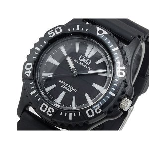 シチズン 腕時計 メンズ Q&Q CITIZEN ソーラー ブラック/ホワイト|vol8