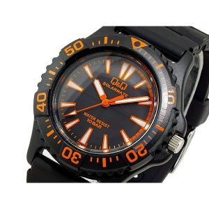 シチズン 腕時計 メンズ Q&Q CITIZEN ソーラー ブラック/オレンジ|vol8