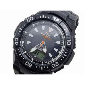シチズン 腕時計 メンズ Q&Q CITIZEN 電波 ソーラー デジタル ブラック|vol8