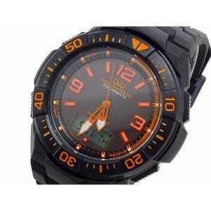 シチズン 腕時計 メンズ Q&Q CITIZEN 電波 ソーラー デジタル オレンジ/ブラック|vol8