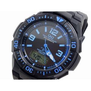 シチズン 腕時計 メンズ Q&Q CITIZEN 電波 ソーラー デジタル ブルー/ブラック|vol8