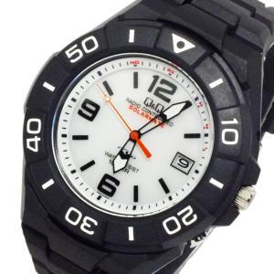 シチズン 腕時計 メンズ Q&Q CITIZEN 電波 ソーラー ホワイト/ブラック|vol8