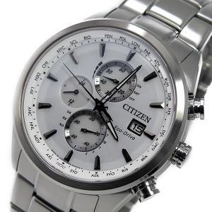 シチズン 腕時計 メンズ CITIZEN クロノグラフ ホワイト/シルバー|vol8