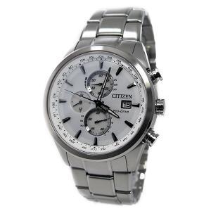 シチズン 腕時計 メンズ CITIZEN クロノグラフ ホワイト/シルバー|vol8|02