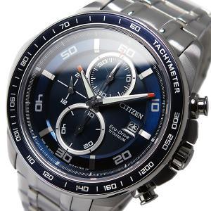 シチズン 腕時計 メンズ CITIZEN クロノグラフ ブルー/シルバー|vol8