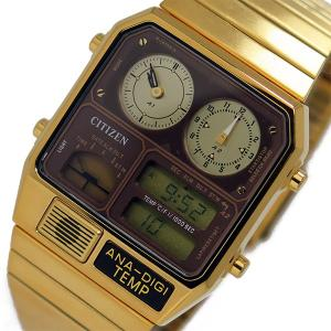 シチズン 腕時計 メンズ アナデジテンプ CITIZEN ブラウン/ゴールド|vol8