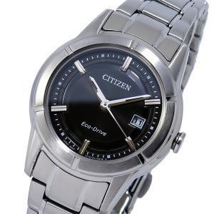 シチズン 腕時計 レディース エコドライブ CITIZEN ソーラー ブラック/シルバー|vol8