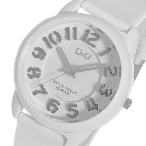 シチズン 腕時計 メンズ&レディース Q&Q CITIZEN ホワイト/シルバー|vol8