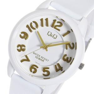 シチズン 腕時計 メンズ&レディース Q&Q CITIZEN ホワイト/ゴールド|vol8