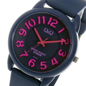 シチズン 腕時計 メンズ&レディース Q&Q CITIZEN ネイビー/ピンク|vol8