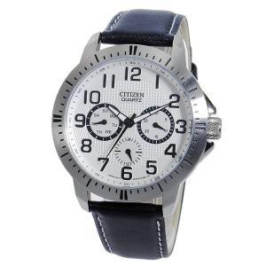 シチズン 腕時計 メンズ CITIZEN レザー ホワイト/ブラック vol8 02