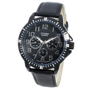 シチズン 腕時計 メンズ CITIZEN レザー ブラック|vol8|02