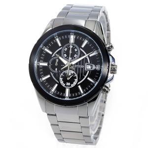 シチズン 腕時計 メンズ CITIZEN クロノグラフ ブラック/シルバー vol8 02