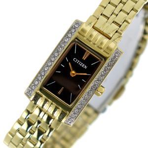 シチズン 腕時計 レディース CITIZEN ブラック/イエローゴールド vol8