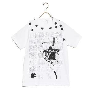コムデギャルソン Tシャツ メンズ COMME des GARCONS XSサイズ WHITE/PRINT H|vol8
