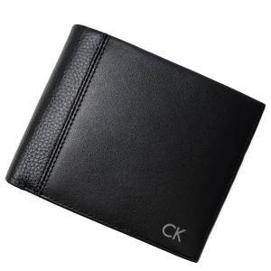 カルバンクライン 二つ折り財布 メンズ&レディース Calvin Klein レザー ブラック|vol8